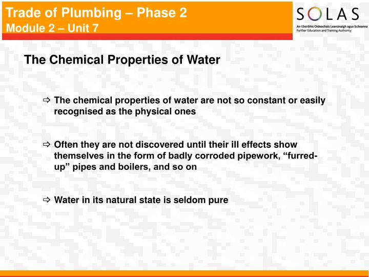The Chemical Properties of Water