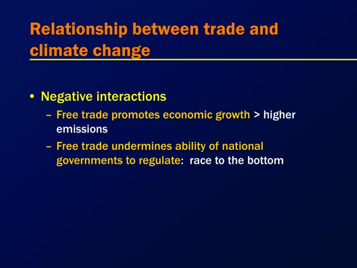 Relationship between trade and climate change1