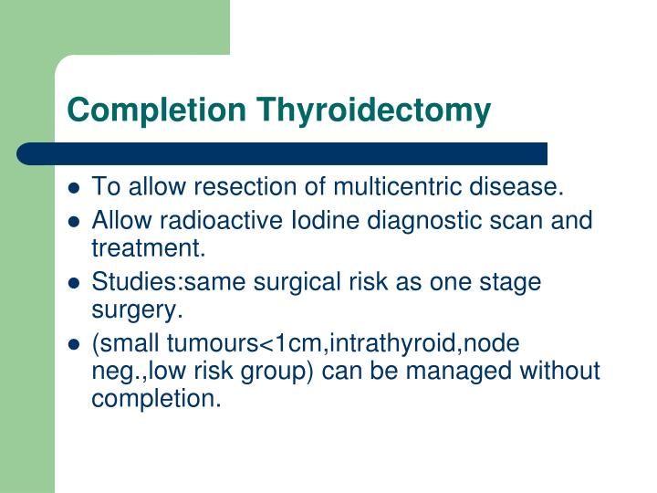 Completion Thyroidectomy