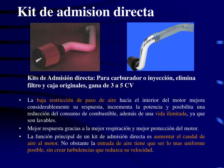 Kit de admision directa