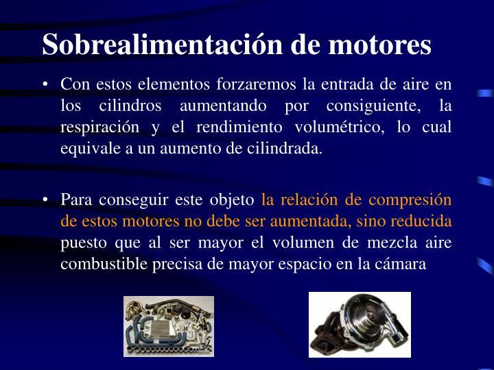 Sobrealimentación de motores