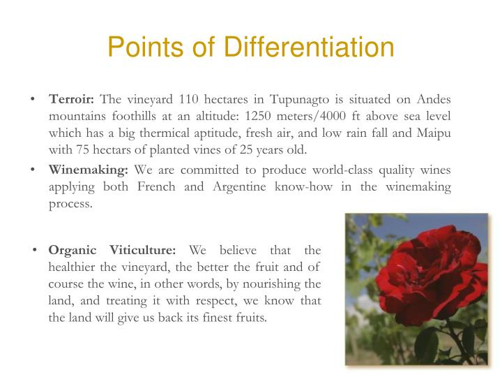 Points of Differentiation