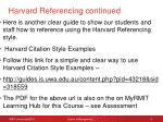 harvard referencing continued