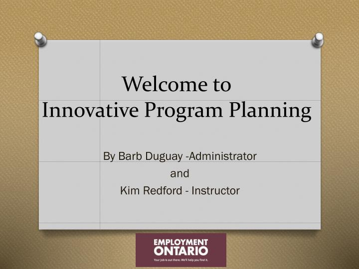 welcome to innovative program planning n.