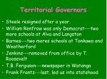 territorial governors