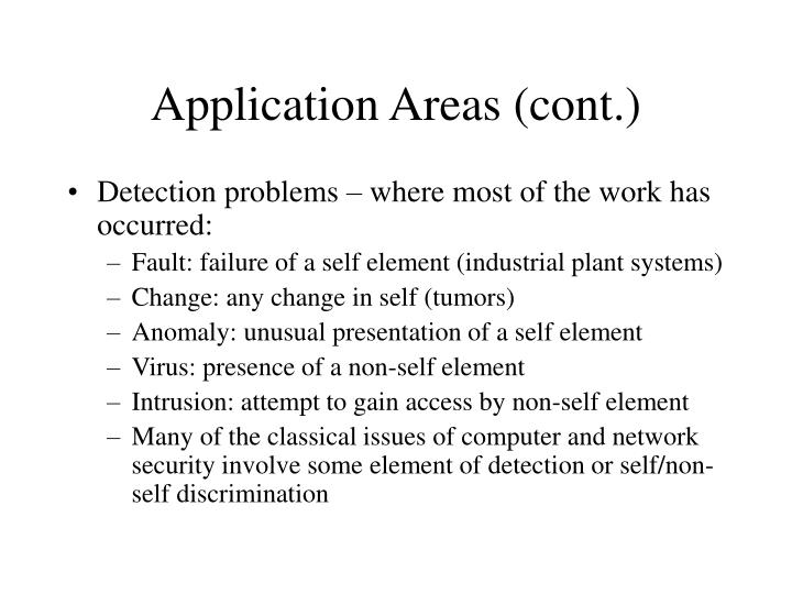Application Areas (cont.)