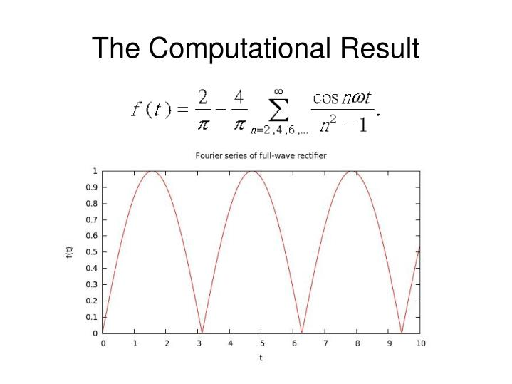 The Computational Result