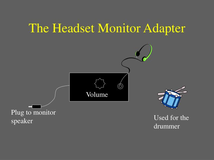 The Headset Monitor Adapter