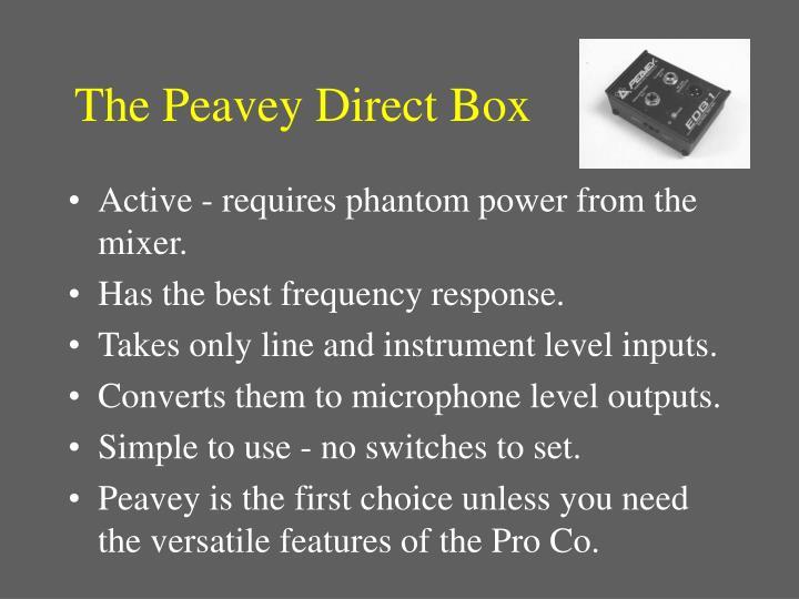 The Peavey Direct Box
