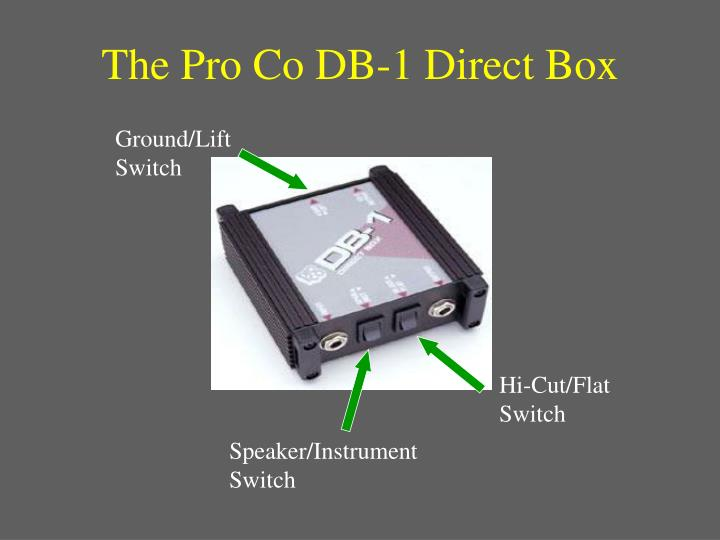 The Pro Co DB-1 Direct Box