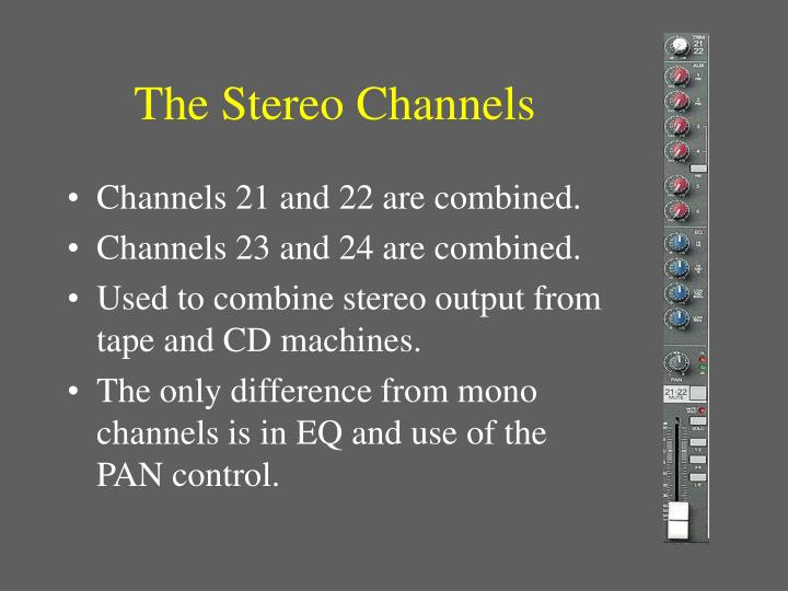The Stereo Channels