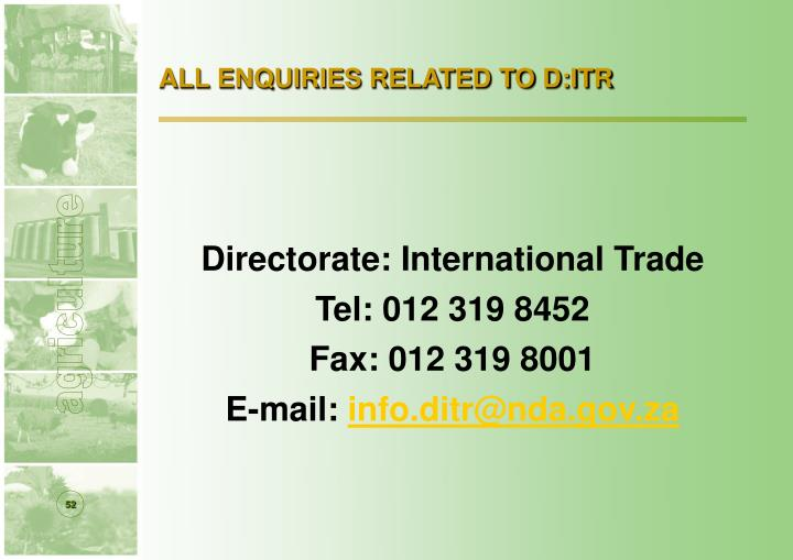 ALL ENQUIRIES RELATED TO D:ITR