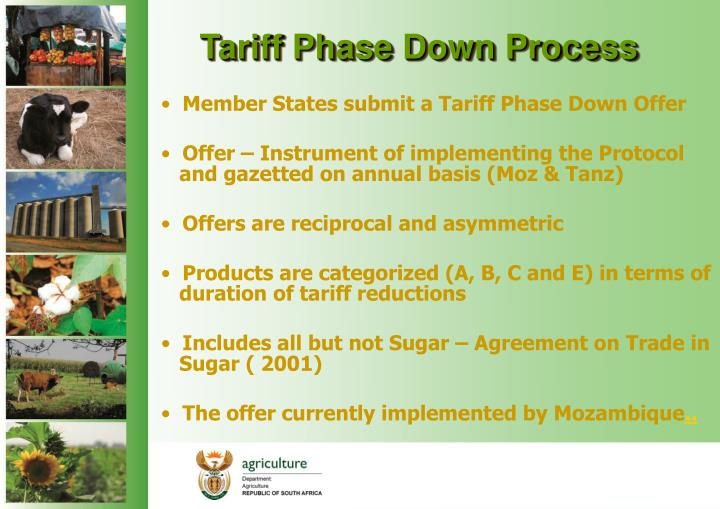Tariff Phase Down Process