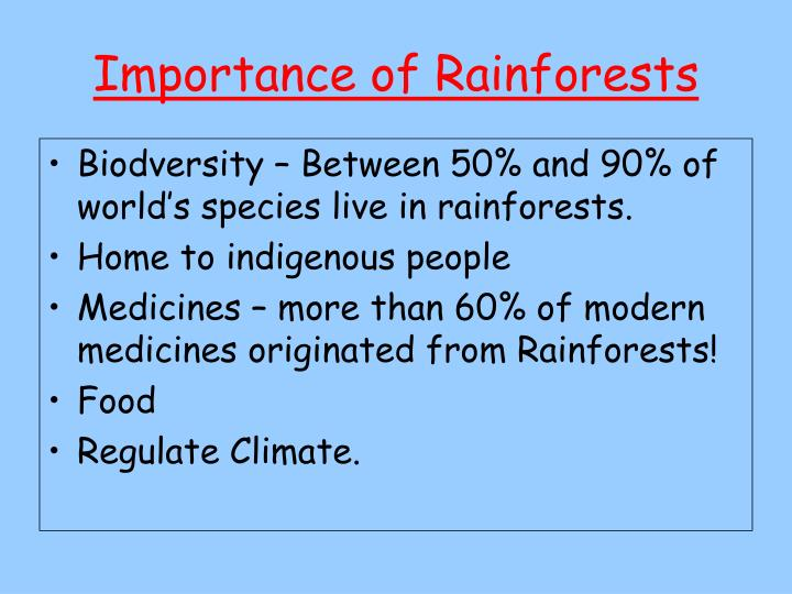 the importance of rainforests Temperate rainforest distribution fungi are the most important decomposers in many ecosystems, and the temperate rainforest is no exception.