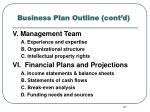 business plan outline cont d1