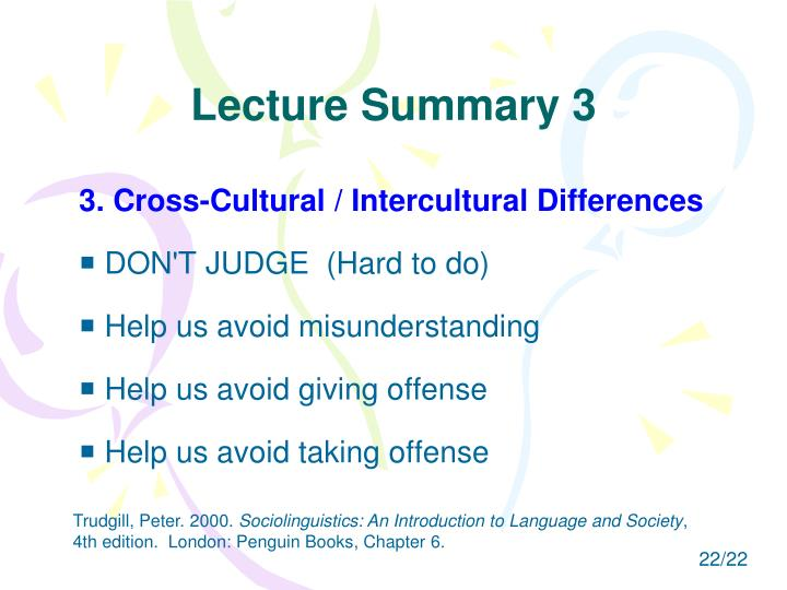 Lecture Summary 3