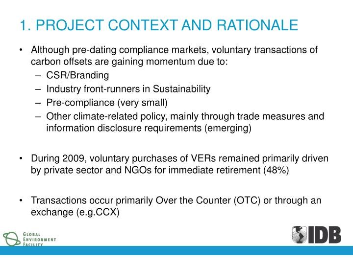 1. PROJECT CONTEXT AND RATIONALE