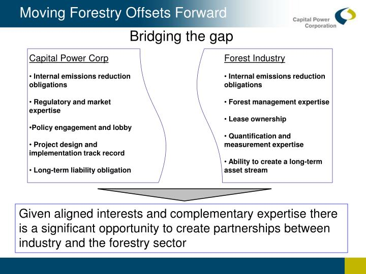 Moving Forestry Offsets Forward