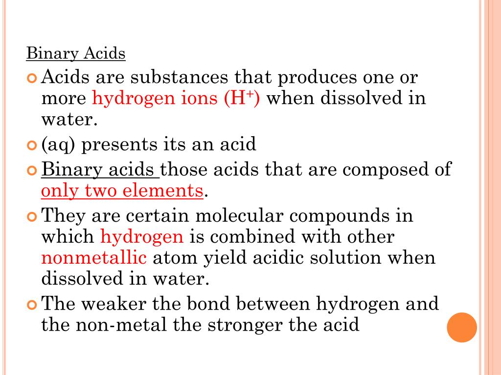 PPT - Binary Acids PowerPoint Presentation - ID:6118743