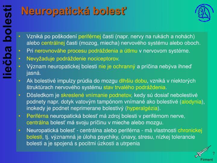 Neuropatická bolesť
