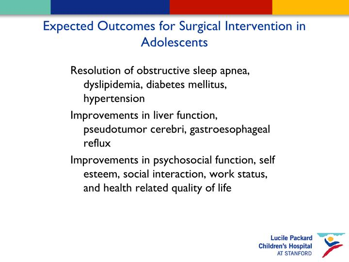 Expected Outcomes for Surgical Intervention in Adolescents