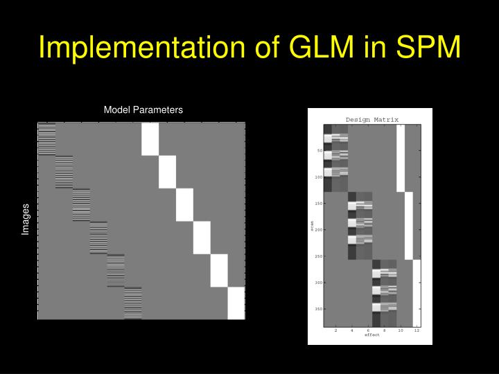 Implementation of GLM in SPM