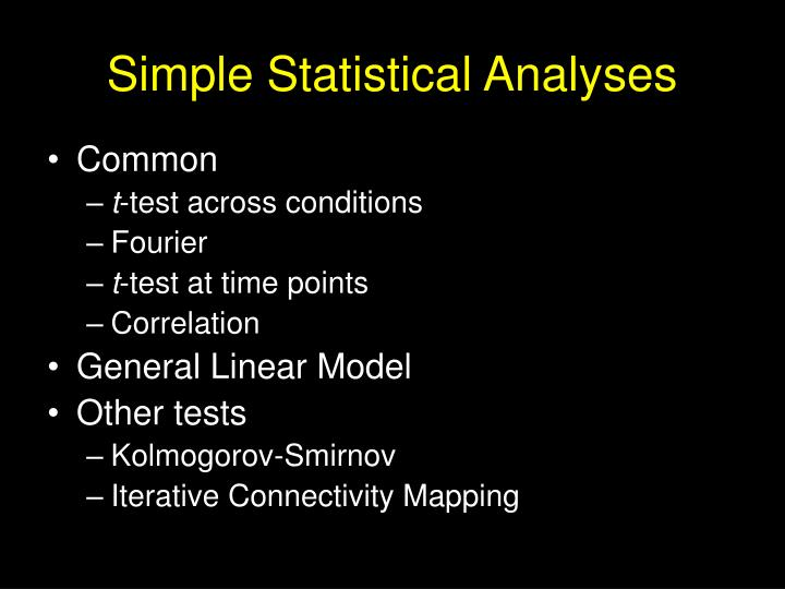 Simple Statistical Analyses