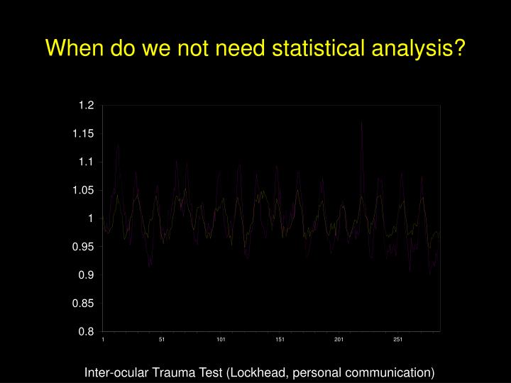 When do we not need statistical analysis?