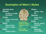 examples of men s styles