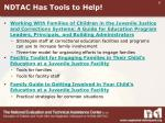 ndtac has tools to help