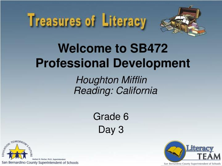 welcome to sb472 professional development