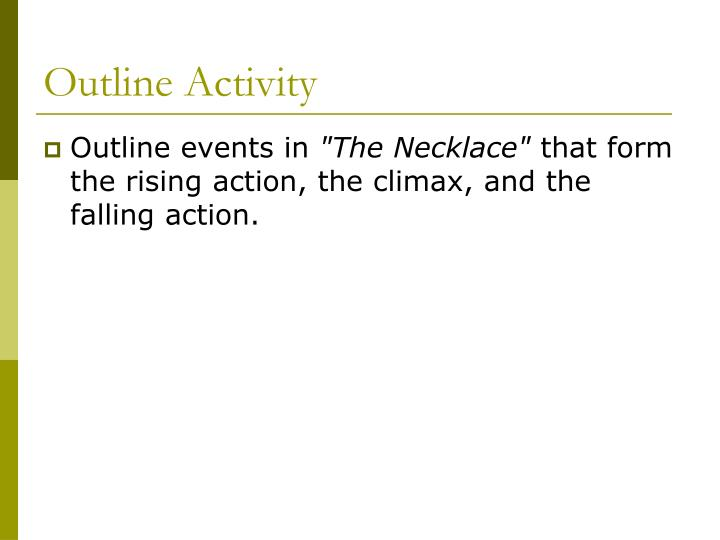 the necklace rising action