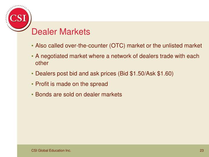 Dealer Markets