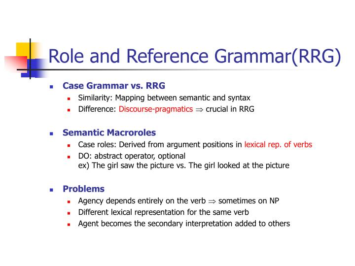 Role and Reference Grammar(RRG)