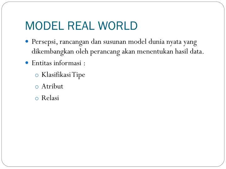 MODEL REAL WORLD