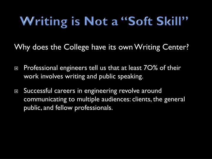 Writing is not a soft skill