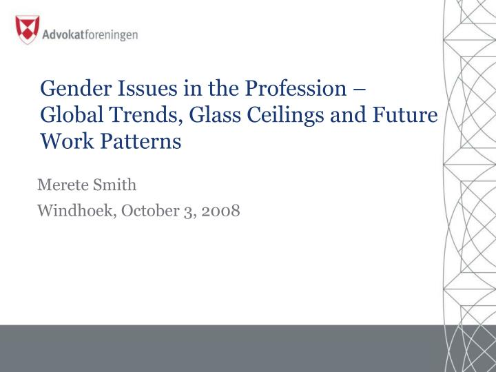 gender issues in the profession global trends glass ceilings and future work patterns n.