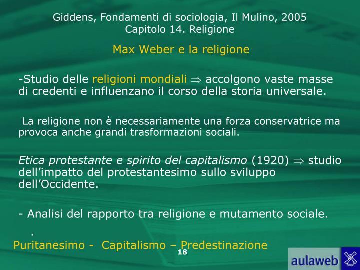 Max Weber e la religione