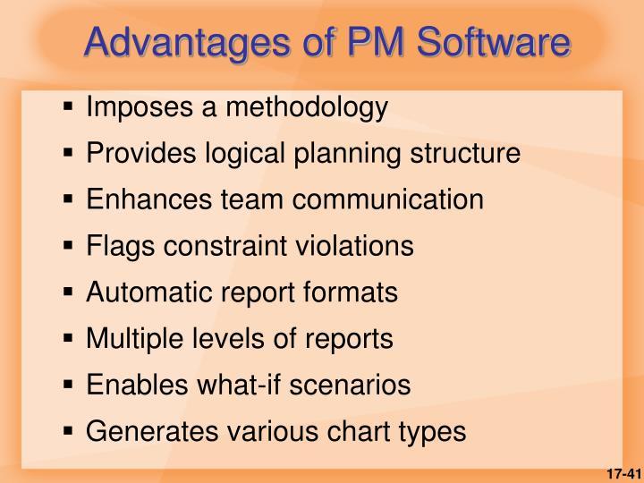 Advantages of PM Software