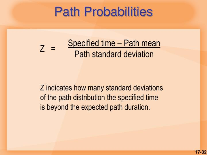 Path Probabilities