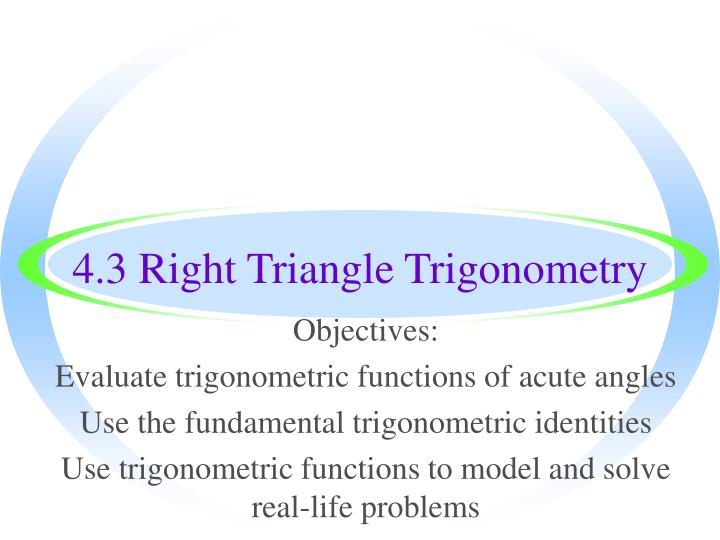 trigonometry in real life problems