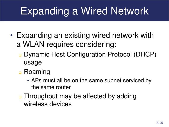 Expanding a Wired Network