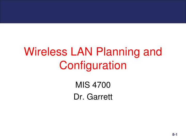 Wireless lan planning and configuration