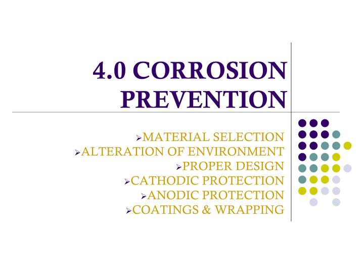 4 0 corrosion prevention n.