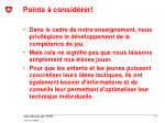 points consid rer