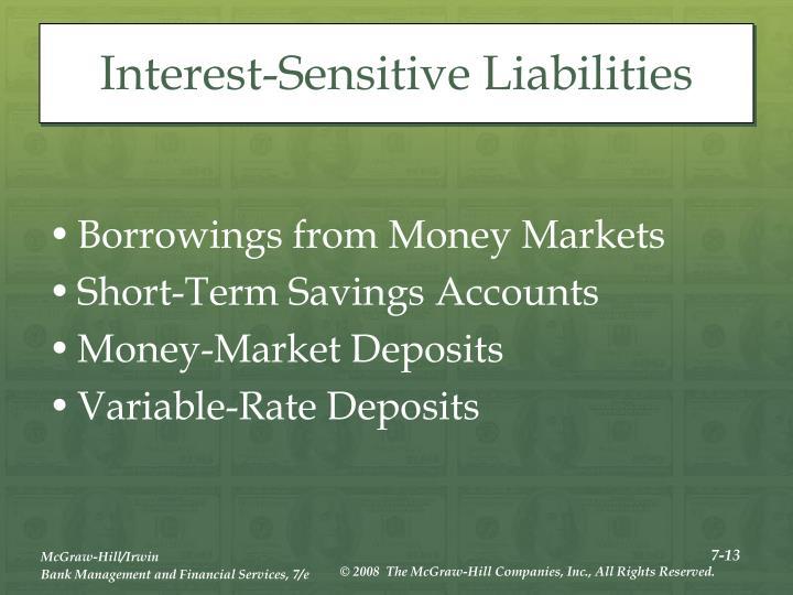 Interest-Sensitive Liabilities