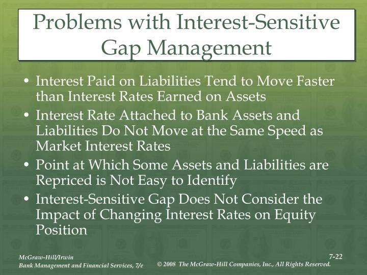 Problems with Interest-Sensitive Gap Management