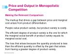 price and output in monopolistic competition11