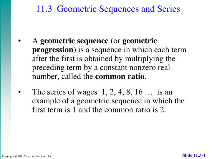 PPT - 11 3 Geometric Sequences and Series PowerPoint
