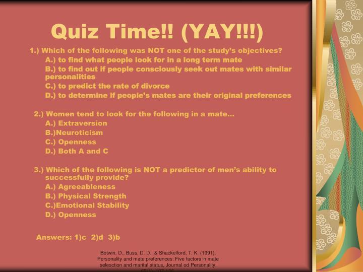 Quiz Time!! (YAY!!!)
